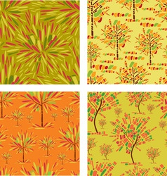 seamless decorative trees vector image