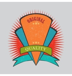 Retro vintage badge with texture vector