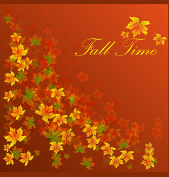 autumn sale banner season leaf card nature vector image