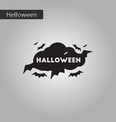 black and white style icon halloween cloud bats vector image