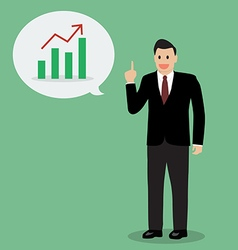 Businessman talking development and financial vector image