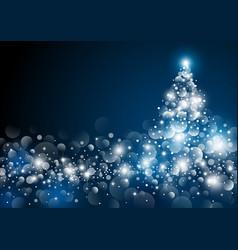 christmas tree design at night vector image vector image