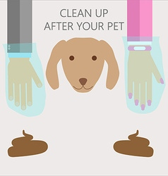 Clean up after your pet vector