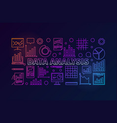 data analysis colorful modern banner vector image vector image