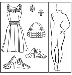 different female accessories vector image