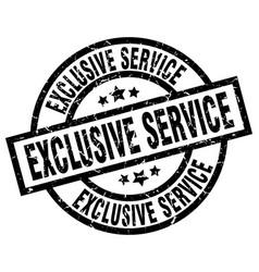 Exclusive service round grunge black stamp vector