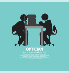 eye examination black symbol vector image vector image