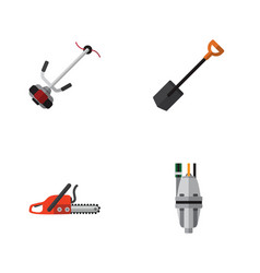 flat icon garden set of grass-cutter pump vector image