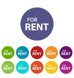 For rent flat icon vector image