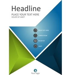 Green blue cover template for business vector image vector image