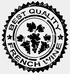 Grunge stamp quality label for French wine vector image vector image