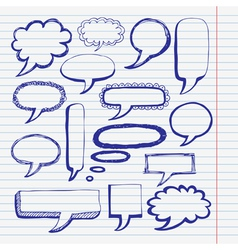 hand drawn bubble set vector image