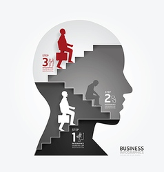 infographics businessman up the Ladder paper vector image