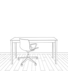 Interior office design vector