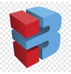 Letter b logo vector image vector image