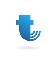 Letter t wireless logo icon design template vector