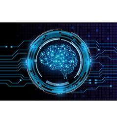 machine brain vector image