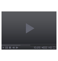 Media Player Interface vector image vector image