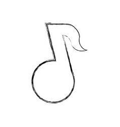 Music note tune vector