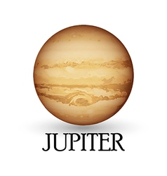 Planet jupiter isolated white background vector