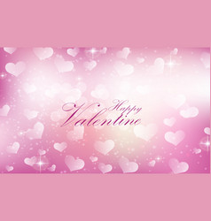 Purple valentine heart background vector