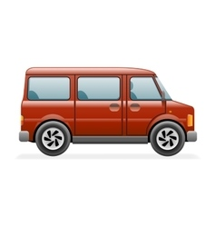 Retro Van Car Icon Isolated Realistic 3d Design vector image
