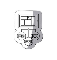 Smartphone database server icon stock vector