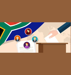south africa democracy political process selecting vector image vector image