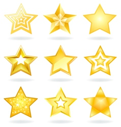 Star icons vector