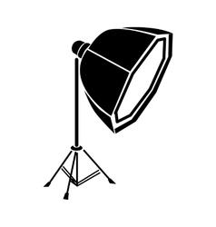 Studio light icon simple style vector