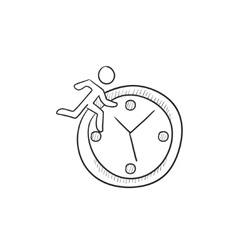 Time management sketch icon vector image