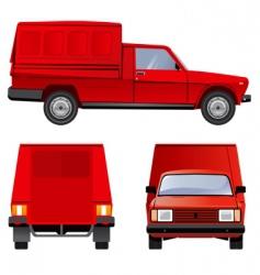 tradesman's van vector image