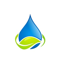 water drop leaf ecology abstract logo vector image vector image