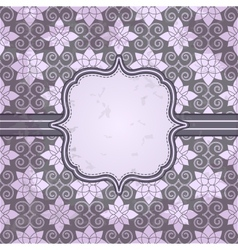 vintage pattern and frame for design vector image