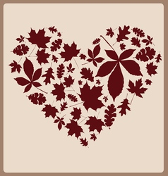 Autumn leaves one color vector