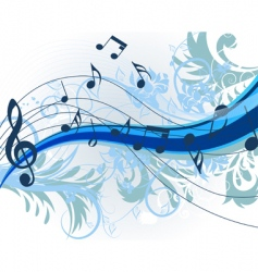 Floral music vector