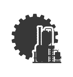 Gear factory silhouette design vector