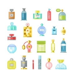 Perfume bottle icons vector