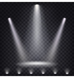 Set of scenic spotlights vector