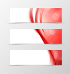 Set of header banner wavy design vector image