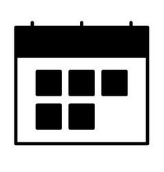 calendar silhouette icon symbol vector image