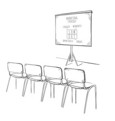Business marketing presentation template vector