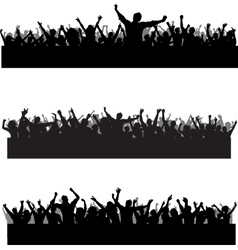 crowd scenes vector image