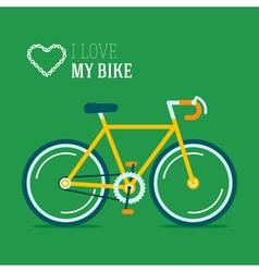 Bike Love Poster vector image