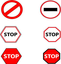 Sign stop and ban vector