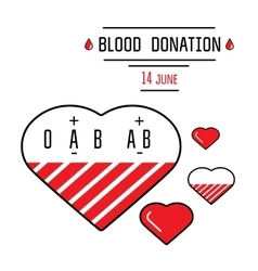 Blood donation icons vector