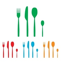 Fork spoon and knife sign vector