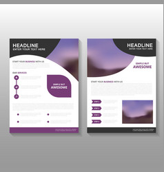 Purple business proposal leaflet brochure flyer vector