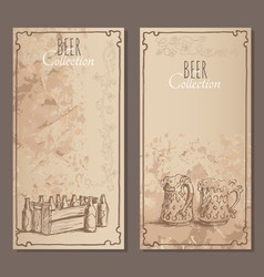 Beer collection cards vector