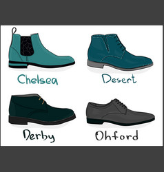 a set of shoes classical shoes eps 8 vector image